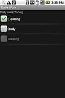 Screenshot of Daily Work