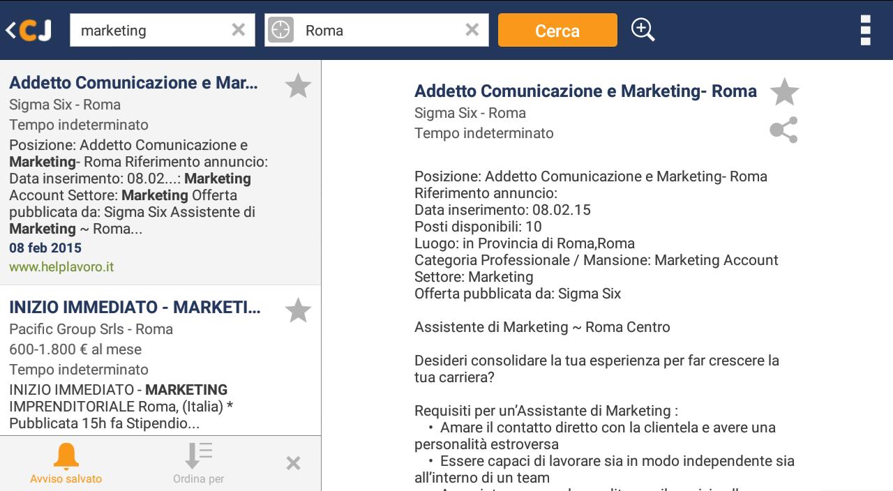 Siti con annunci offerte di lavoro for Subito offerte di lavoro roma