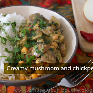 Creamy Mushroom And Chickpea Curry.
