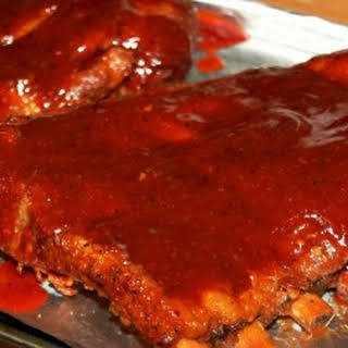 Slow Cooker Sticky Ribs.