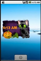 Screenshot of Animated Kitty Clock Widget
