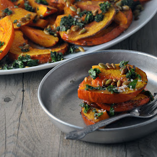 Roasted Squash with Mint, Pepitas and Balsamic