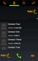 Screenshot of WeBeCall