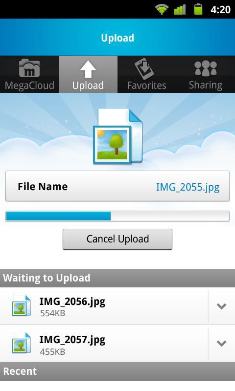 MegaCloud – 8GB Free Storage - screenshot