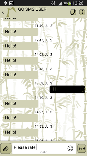 GO短信加强版竹