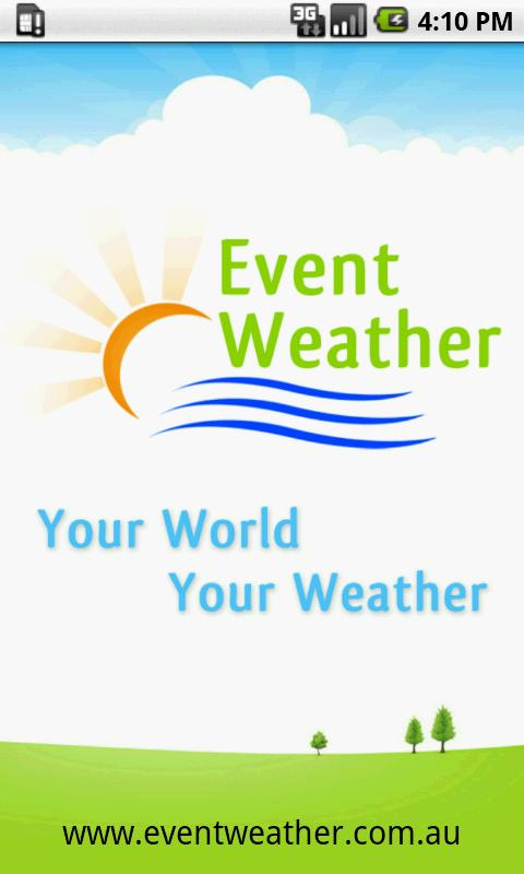 Event Weather App - screenshot