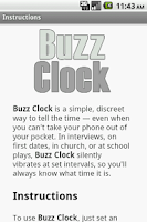 Screenshot of Buzz Clock
