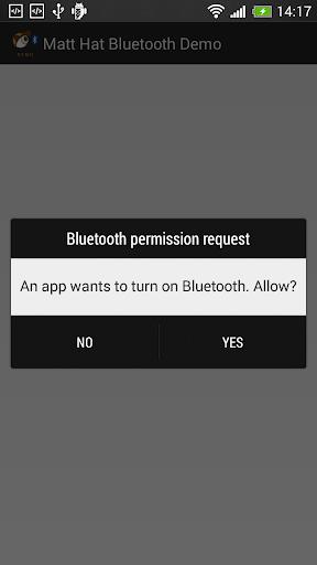 Matt Hat Bluetooth Demo