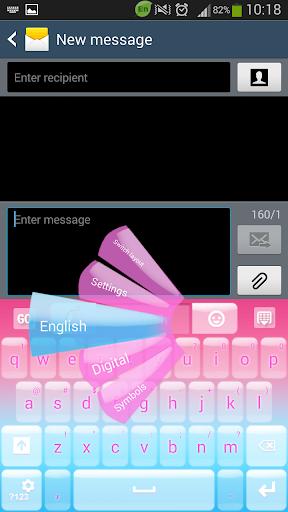 GO键盘柔和的粉红色
