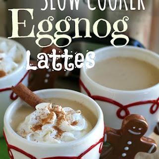 Slow Cooker Egg Nog Lattes