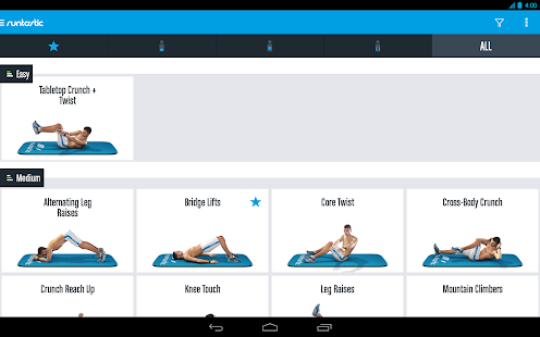 Runtastic Six Pack Abs Workout - screenshot