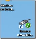 """Create a shortcut of """"Remove removable storage device safely"""" on your desktop"""