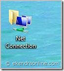 Create a shortcut to network connections in your desktop in Vista