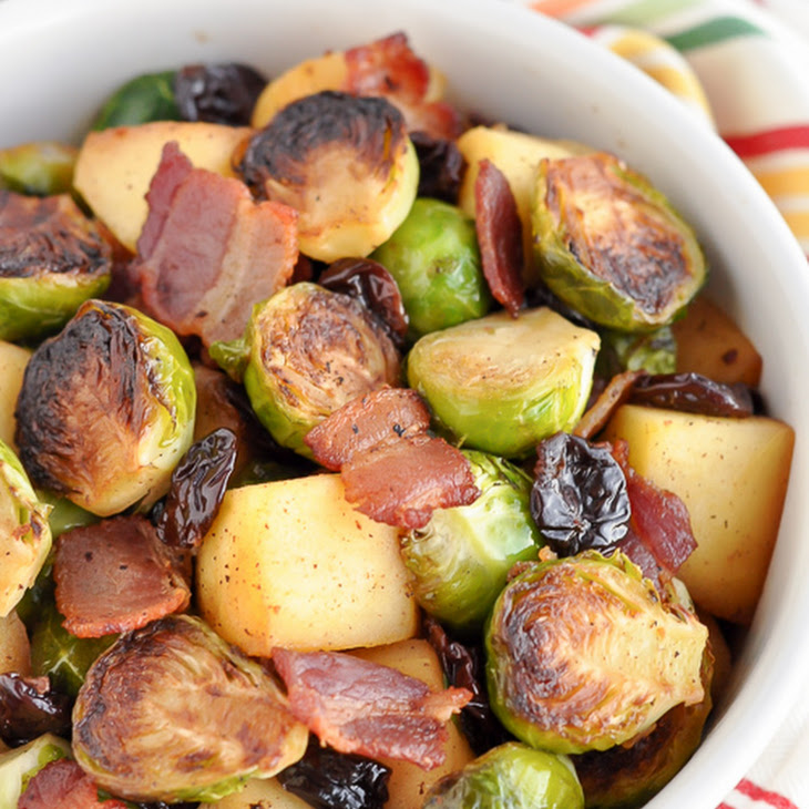 Pan Roasted Brussels Sprouts with Bacon and Apples Recipe