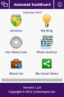 Screenshot of Animated Dashboard API