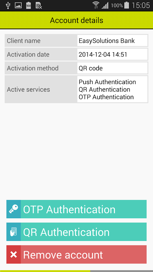 DetectID Authenticator - screenshot