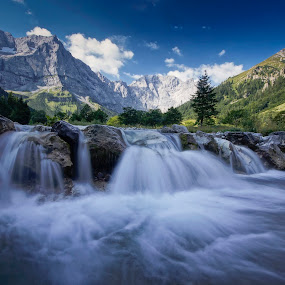 Cascade by Michael Otter - Landscapes Mountains & Hills ( karvendel, riss, eng valley )