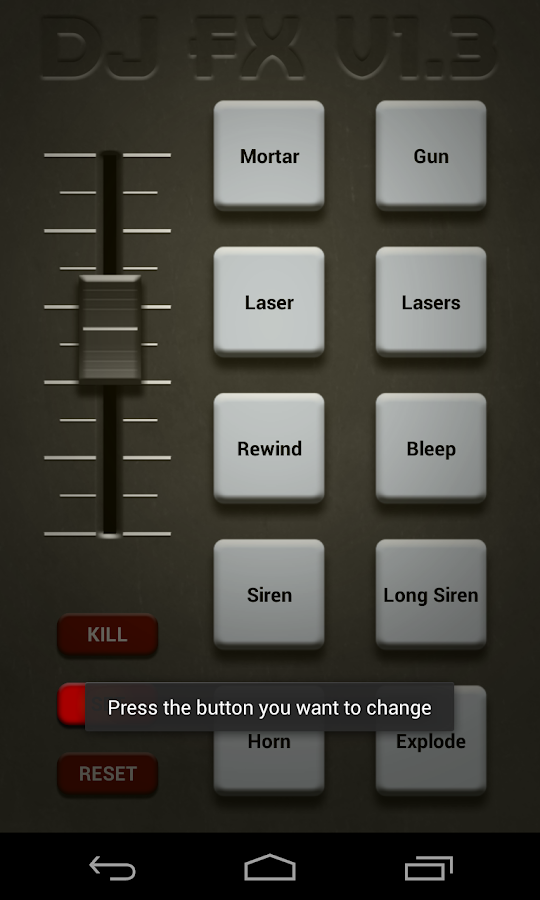 DJ FX Custom Soundboard - screenshot
