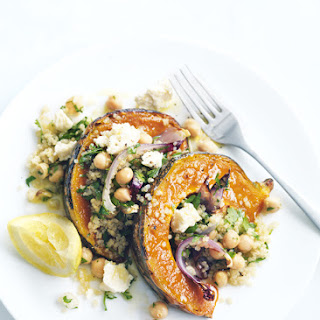 Roasted Pumpkin, Feta And Quinoa Salad.