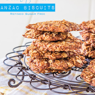 Coconut Sugar and Coconut Flour Anzac biscuits