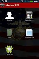 Screenshot of Marine PFT