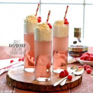 Adult Raspberry Italian Cream Soda.