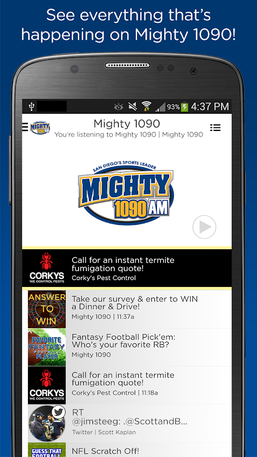 The Mighty 1090 AM- screenshot