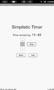 Simplistic Countdown Timer - screenshot thumbnail