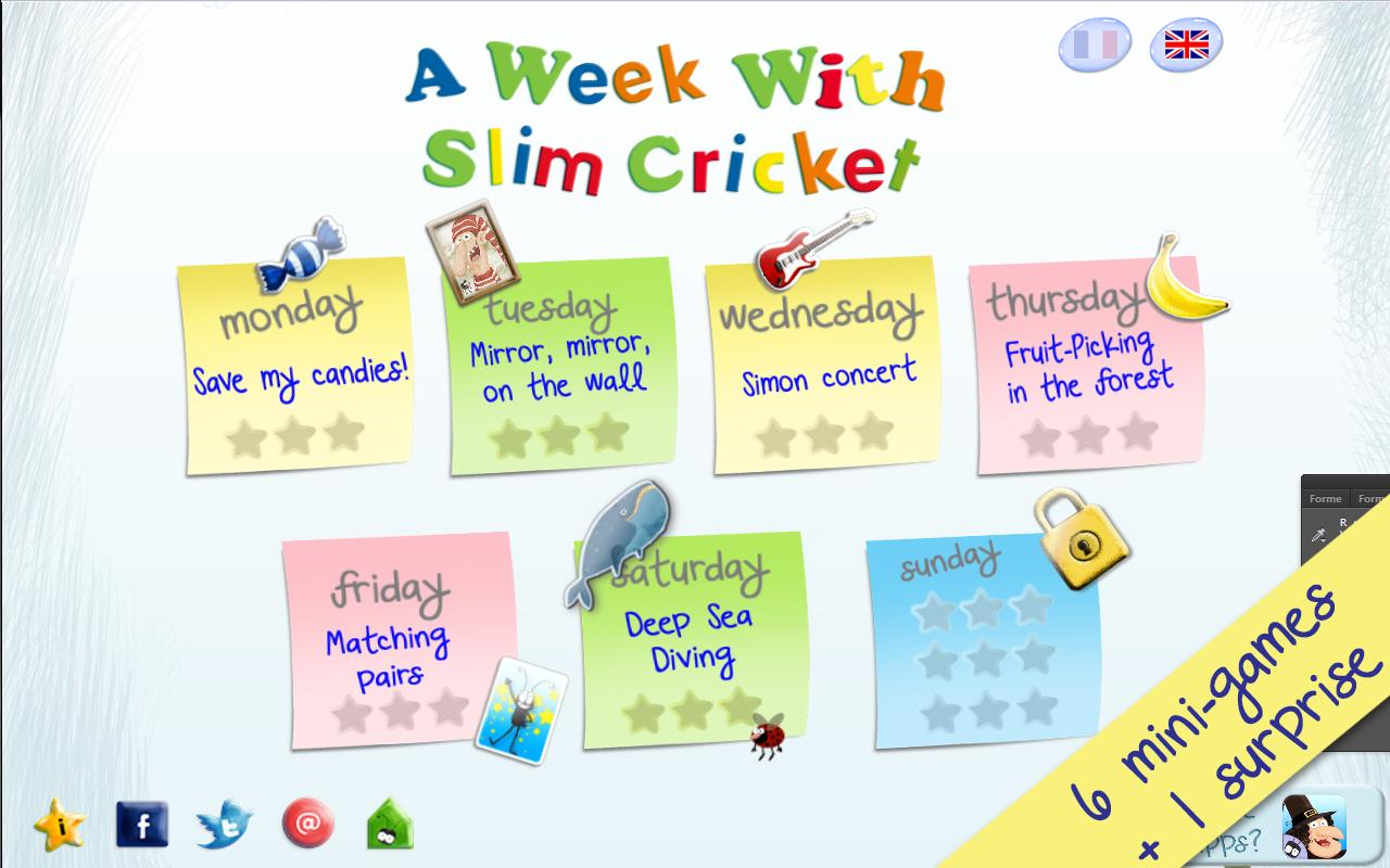 A Week With Slim Cricket -Free- screenshot