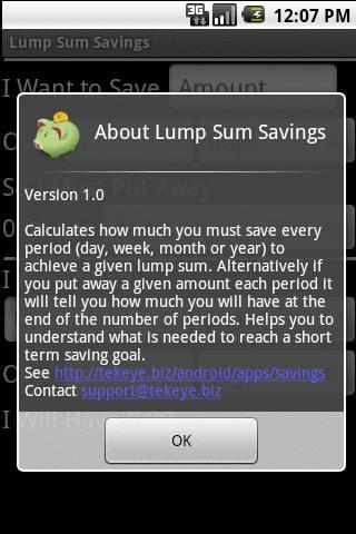 Lump Sum Savings Free- screenshot