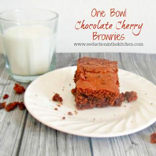 One Bowl Chocolate Cherry Brownies