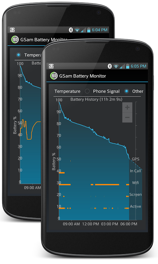 GSam Battery Monitor- screenshot