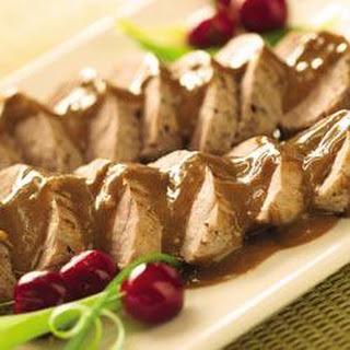 Pork Tenderloins with Asian Peanut Sauce.