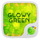 Glowy Green GO Keyboard Theme