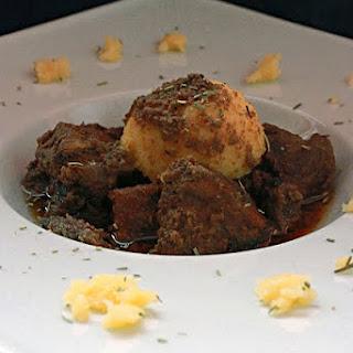 Wild Boar Stew in Red Wine.