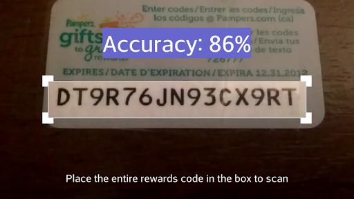 Pampers Rewards Code Scanner