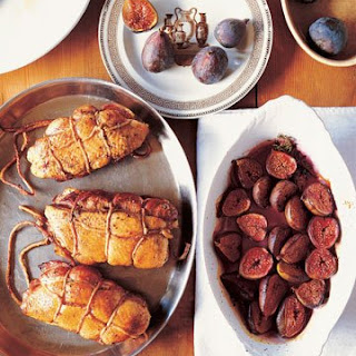 Double Duck Breasts with Baked Figs.