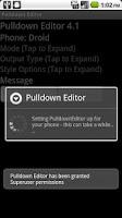 Screenshot of Pulldown Editor