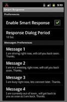 Screenshot of Smart Response (Free)