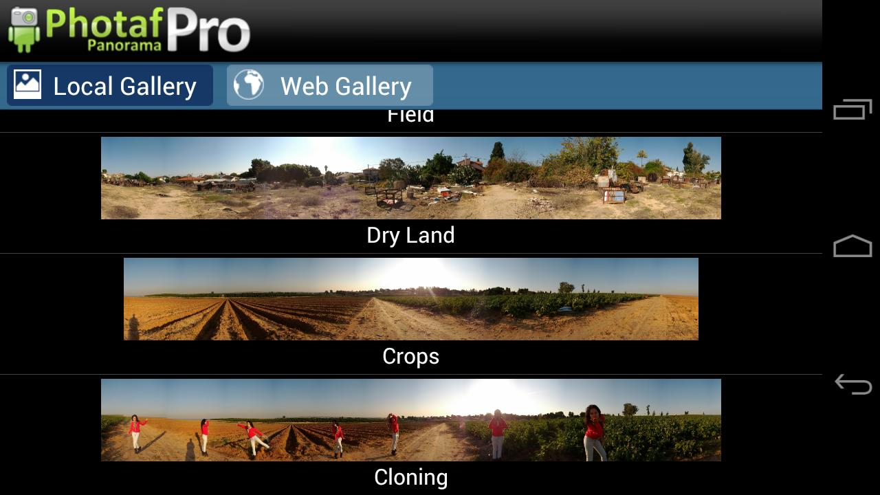 Photaf Panorama Pro - screenshot