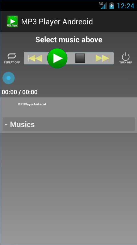 MP3 Player Andreoid- screenshot