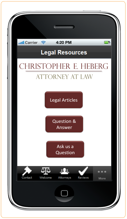 Attorney Christopher Heberg- screenshot