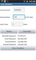 Screenshot of Financial Calculator Pro