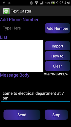 Text Caster