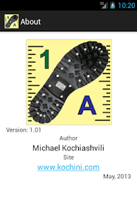 Shoe size converter screenshot 1
