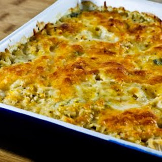 Brown Rice Casserole Recipe with Leftover Turkey (or chicken), Mushrooms, Sour Cream, Cheese, and Thyme.