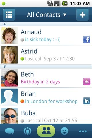Phonebook 2.0 - screenshot