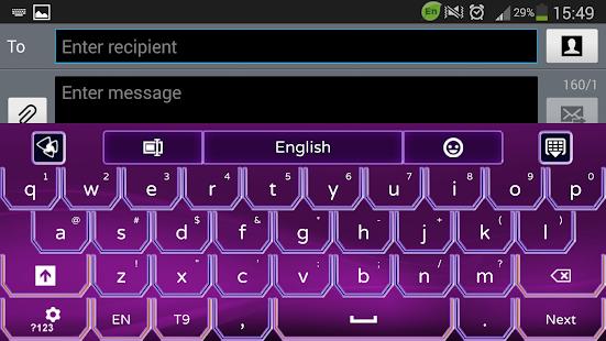 超级紫色霓虹灯GO输入法