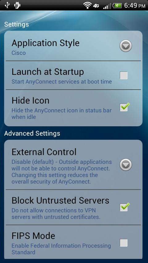 HTC AnyConnect - screenshot