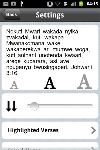 Shona Bible- screenshot